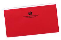 Etranger di Costarica Zipper Case - Pen Size - Transparency Red - ETRANGER DI COSTARICA ZIP-PN-62