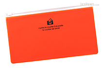 Etranger di Costarica Zipper Case - Pen Size - Transparency Orange - ETRANGER DI COSTARICA ZIP-PN-64