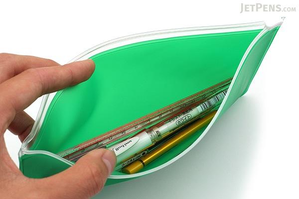 Etranger di Costarica Zipper Case - Pen Size - Transparency Green - ETRANGER DI COSTARICA ZIP-PN-67