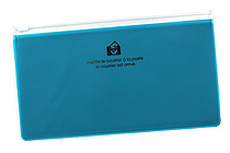 Etranger di Costarica Zipper Case - Pen Size - Transparency Light Blue - ETRANGER DI COSTARICA ZIP-PN-68