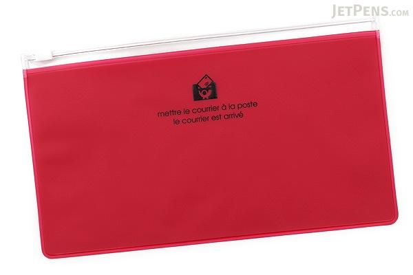 Etranger di Costarica Zipper Case - Pen Size - Transparency Pink - ETRANGER DI COSTARICA ZIP-PN-70