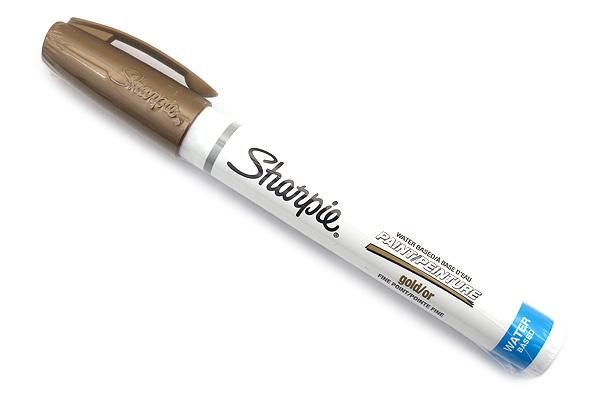Sharpie Water-Based Paint Marker - Fine Point - Gold - SHARPIE 35587