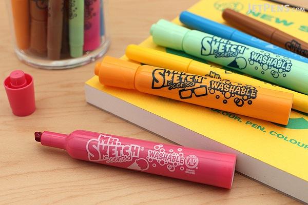 Mr. Sketch Scented Washable Markers - Ice Cream - Chisel Tip - 6 Color Set - MR SKETCH 1924258