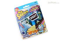 Mr. Sketch Scented Washable Markers - Movie Night - Chisel Tip - 6 Color Set - MR SKETCH 1924260