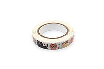 Pine Book Nami Nami Deco Washi Tape - 8 mm - Stray Cat - PINE BOOK TM00184