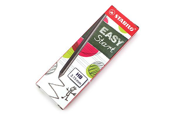 Stabilo EASYergo 3.15 Mechanical Pencil Refill - 3.15 mm - Pack of 6 - STABILO 7890-6-HB
