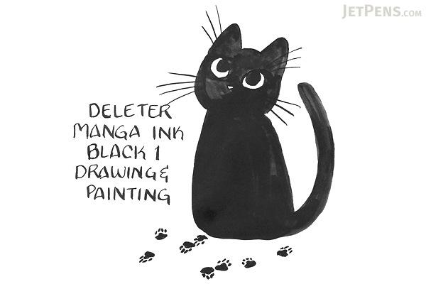 Deleter Black 1 Manga Ink - Drawing & Painting - 30 ml Bottle - DELETER 341-0001