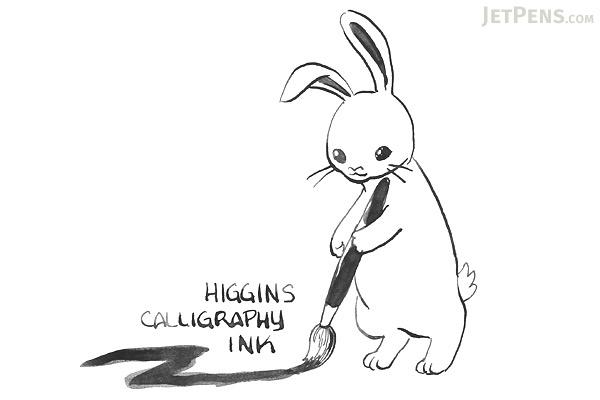 Higgins Calligraphy Ink - Black - 2.5 oz Bottle - HIGGINS 44314