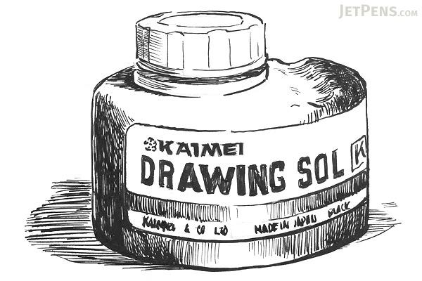 Kaimei Drawing Pen Ink - 60 ml Bottle - KAIMEI SE-0009