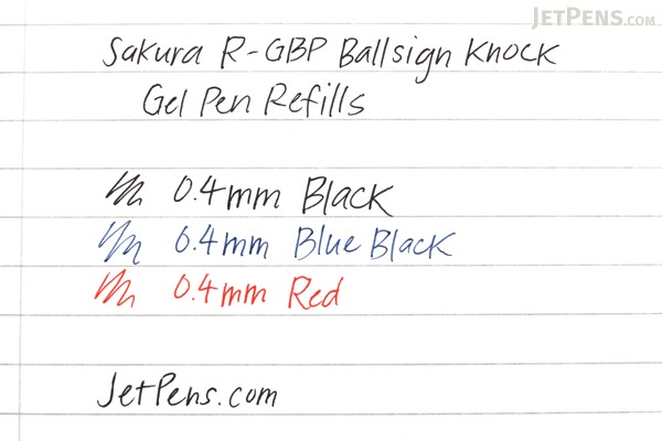 Sakura R-GBP Ballsign Knock Gel Pen Refill - 0.4 mm - Red - SAKURA R-GBP04#19