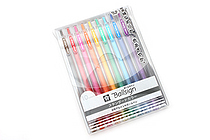 Sakura Ballsign Knock Gel Pen - 0.5 mm - 10 Color set - SAKURA GBR155-10