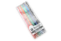 Sakura Ballsign Knock Gel Pen - 0.5 mm - 5 Color Set - SAKURA GBR155-5