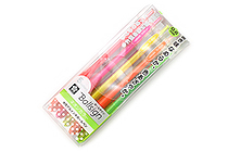 Sakura Ballsign Knock Gel Pen - 0.6 mm - Neon - 5 Color Set - SAKURA GBR156-5C