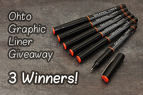 Pen Perks: Ohto Graphic Liner Giveaway