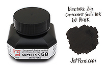 Kuretake Zig Cartoonist Sumi Ink 60 - Black - 60 ml - KURETAKE CNCE103-6