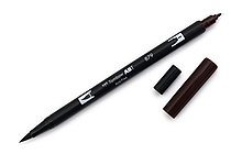 Tombow Dual Brush Pen - 879 - Brown - TOMBOW 56602