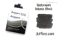 Waterman Intense Black Ink - Short - 6 Cartridges - WATERMAN S0110940