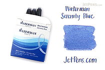 Waterman Serenity Blue Ink - Short - 6 Cartridges - WATERMAN S0110950