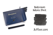 Waterman Ink Cartridges - Intense Black - Long - Pack of 8 - SANFORD S0712991