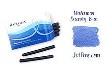 Waterman Ink Cartridges - Serenity Blue - Long - Pack of 8 - SANFORD S0713021