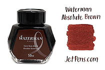Waterman Absolute Brown Ink - 50 ml Bottle - WATERMAN S0110830