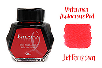 Waterman Fountain Pen Ink - 50 ml Bottle - Audacious Red - WATERMAN S0110730