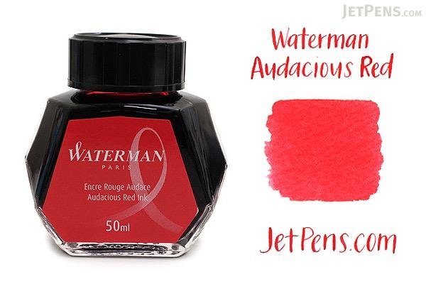 Waterman Audacious Red Ink - 50 ml Bottle - WATERMAN S0110730
