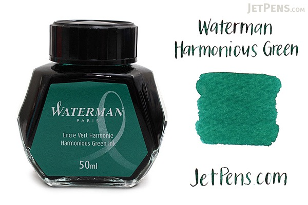 Waterman Harmonious Green Ink - 50 ml Bottle - WATERMAN S0110770