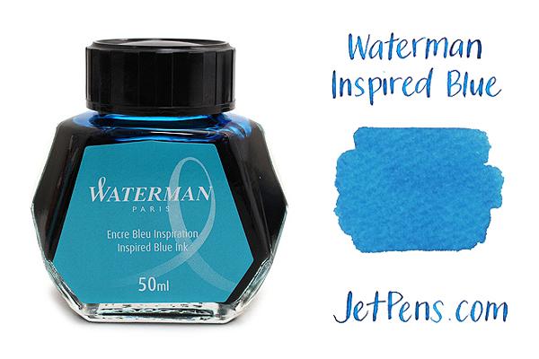 Waterman Fountain Pen Ink - 50 ml Bottle - Inspired Blue - WATERMAN S0110810
