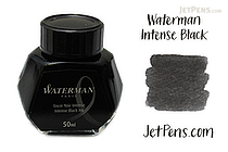 Waterman Intense Black Ink - 50 ml Bottle - WATERMAN S0110710
