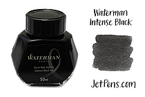 Waterman Fountain Pen Ink - 50 ml Bottle - Intense Black - WATERMAN S0110710