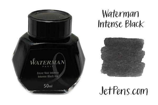 Waterman Fountain Pen Ink - 50 ml Bottle - Intense Black - WATERMAN S0110710