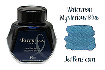 Waterman Fountain Pen Ink - 50 ml Bottle - Mysterious Blue - WATERMAN S0110790