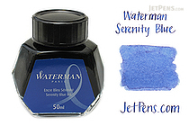 Waterman Serenity Blue Ink - 50 ml Bottle - WATERMAN S0110720