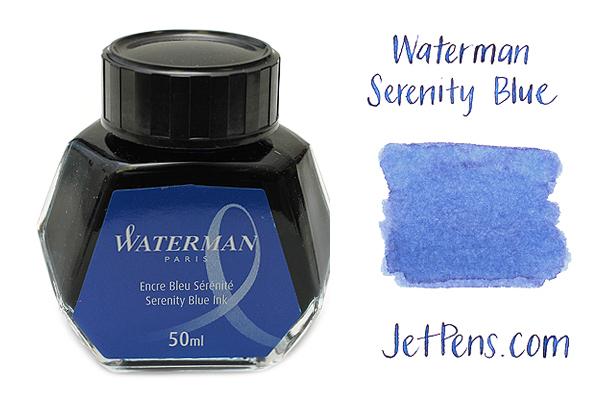 Waterman Fountain Pen Ink - 50 ml Bottle - Serenity Blue - WATERMAN S0110720
