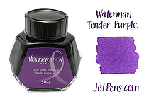 Waterman Fountain Pen Ink - 50 ml Bottle - Tender Purple - WATERMAN S0110750