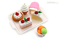 Iwako Dessert on Tray Novelty Eraser - 6 Piece Set - IWAKO ER-981011