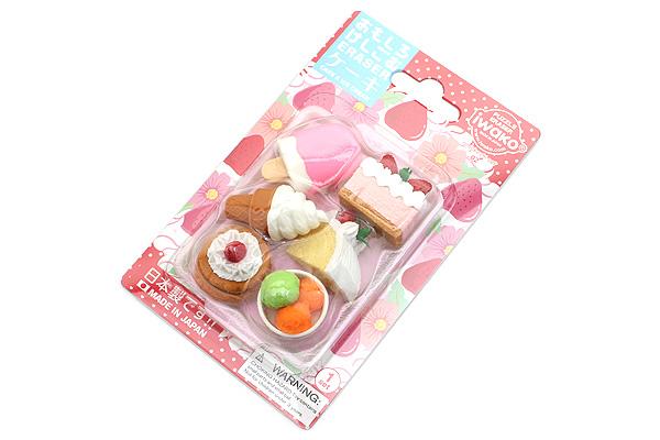 Iwako Dessert on Tray Novelty Eraser - 6 Piece Set - IWAKO ER-981011