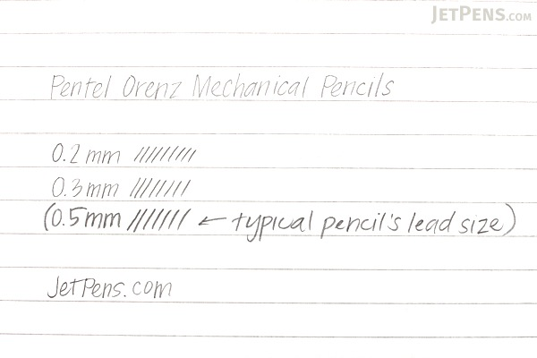 Pentel Orenz Mechanical Pencil - 0.3 mm - White - PENTEL XPP503-W