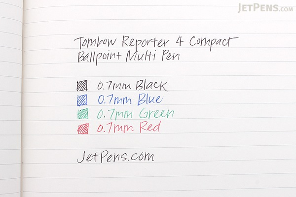 Tombow Reporter 4 Compact Ballpoint Multi Pen - 0.7 mm - Clear Body - TOMBOW BC-FSRC20