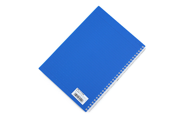 Lihit Lab Aqua Drops Twist Ring Notebook - Semi B5 - Lined - Indigo Blue - LIHIT LAB N-1608-11