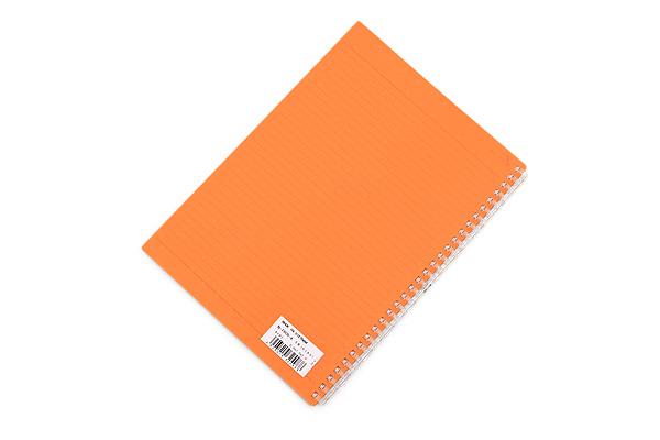 Lihit Lab Aqua Drops Twist Ring Notebook - Semi B5 - Lined - Orange - LIHIT LAB N-1608-4
