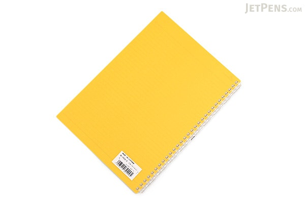 Lihit Lab Aqua Drops Twist Ring Notebook - Semi B5 - Lined - Yellow - LIHIT LAB N-1608-5