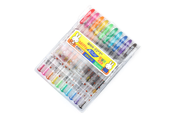 Dong-A Miffy Scented Gel Pen - 0.5 mm - 10 Color Set - DONGA MIFFY 10COLOR