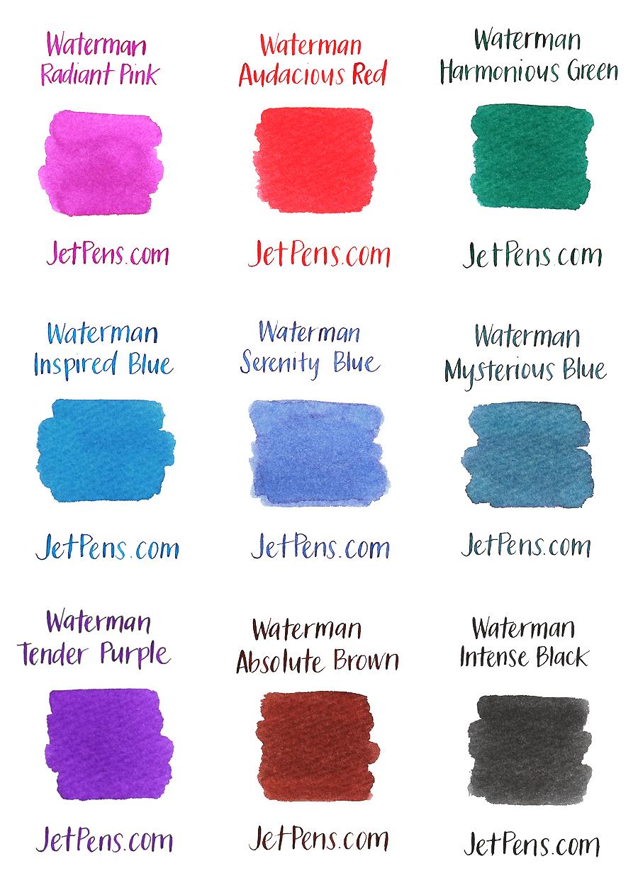Waterman Ink Cartridges - Intense Black - Short - Pack of 6 - WATERMAN S0110940