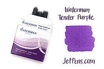 Waterman Ink Cartridges - Tender Purple - Short - Pack of 6 - SANFORD S0110980