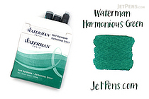 Waterman Ink Cartridges - Harmonious Green - Short - Pack of 6 - WATERMAN S0110990