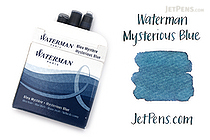 Waterman Ink Cartridges - Mysterious Blue - Short - Pack of 6 - WATERMAN S0111000