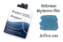 Waterman Ink Cartridges - Mysterious Blue - Short - Pack of 6 - SANFORD S0111000