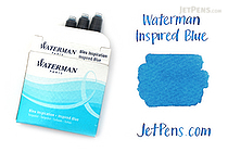 Waterman Inspired Blue Ink - Short - 6 Cartridges - WATERMAN S0111010